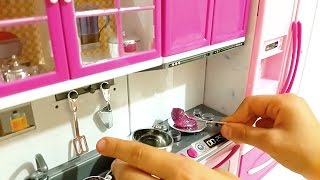 Yeni Mutfağım Slime Barbie Kitchen Games house, Fun kid video