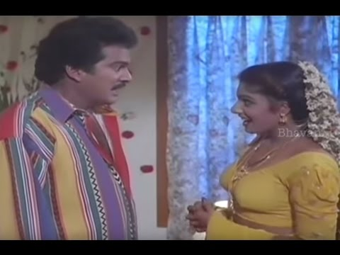 Rajendra Prasad And Ravali First Night Scene || Vaddu Bava Thappu Movie Scenes