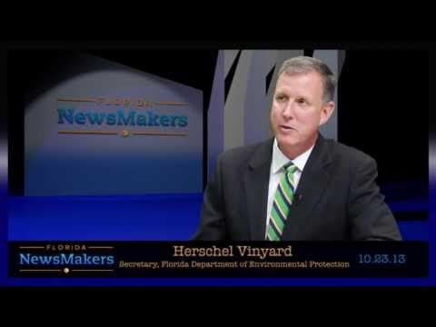 Florida NewsMakers: Secretary, Florida Department of Enviornmental Protection Herschel Vinyard