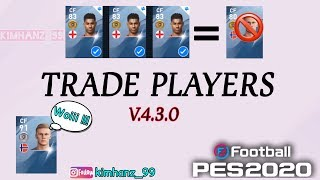How to TRADE PLAYERS in eFootball PES 2020 Mobile