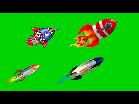 детский футаж hd для видеомонтажа ракета с иллюминатором в хромокее