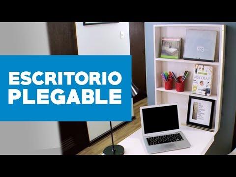 C mo construir un escritorio plegable youtube - Como hacer una mesa plegable ...