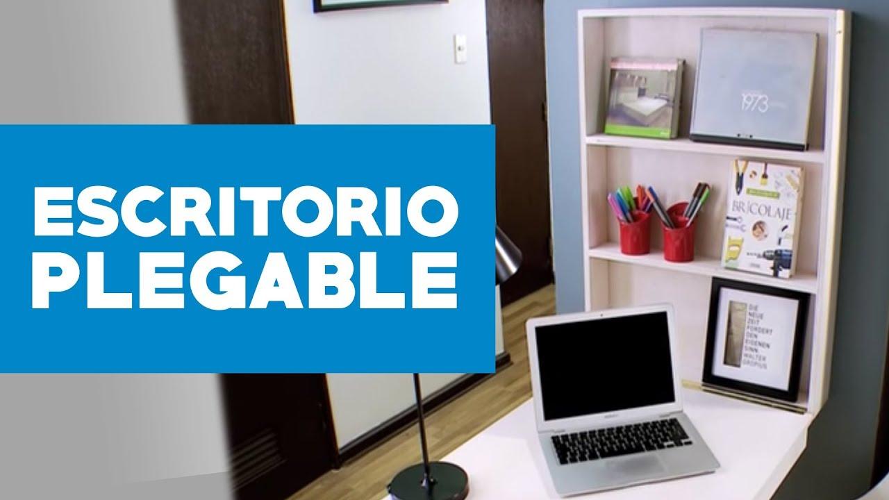 C mo construir un escritorio plegable youtube - Como hacer una mesa de ordenador ...