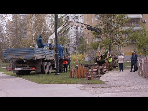В Тамбове снесли детский городок на Набережной улице