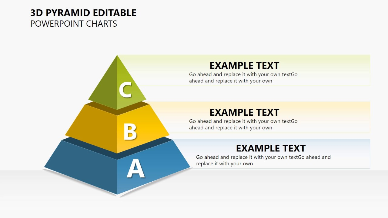 3d pyramid editable powerpoint charts presentation youtube