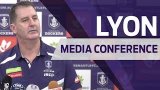 Fyfe to fly for Cats clash - Ross Lyon media conference