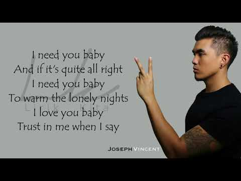 CAN'T TAKE MY EYES OF YOU JOSEPH VINCENT (COVER)  LYRICS