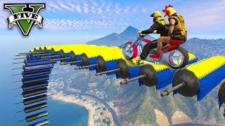GTA V Online: O SKILL TEST em DUPLA NA MOTO!!! (DEU MUITO RUIM)