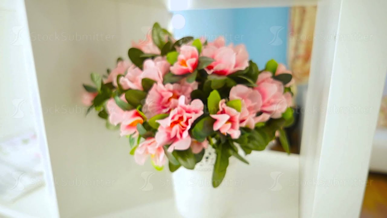 A bouquet of artificial flowers in a pot on the shelf youtube a bouquet of artificial flowers in a pot on the shelf izmirmasajfo