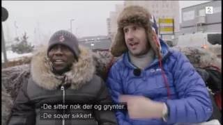 Kevin Hart and Ice Cube sightseeing in Oslo, Norway  FUNNY!