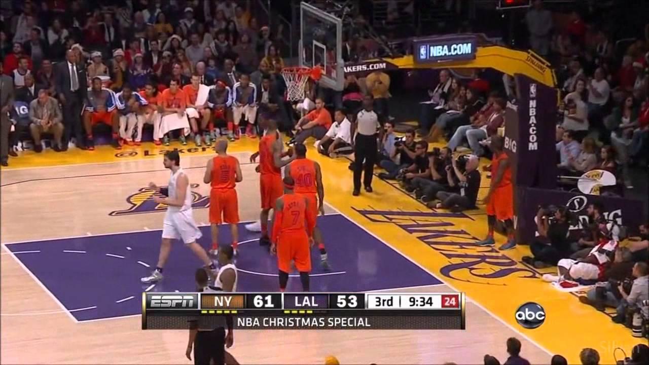 Kobe Bryant 34 Points vs New York Knicks - Christmas Day 25/12/2012 ...