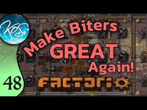 Factorio Ep 48: SECTIONAL SMELTING - Make Biters GREAT Again! - Mod, Let's Play, Gameplay