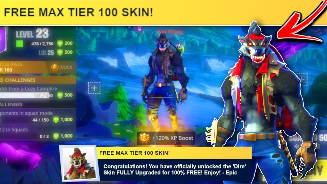 New Instant Max Dire Skin Glitch Fortnite Season 6 Tier 100 Dire