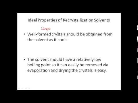 CH223 Exp 3A Recrystallization Pre-Lab Lecture Video