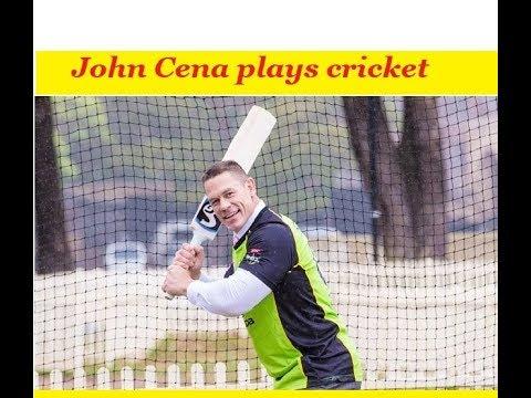 WWE star John Cena plays cricket with Shane Watson | Rahul Dravid | Virat Kohli | Australia | India