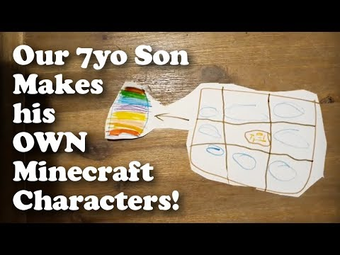 Our 7yo Son Creates Paper Minecraft Characters!