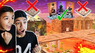 My Brothers Try To Guess The Right Room For RARE Skins And V-BUCKS In Fortnite!