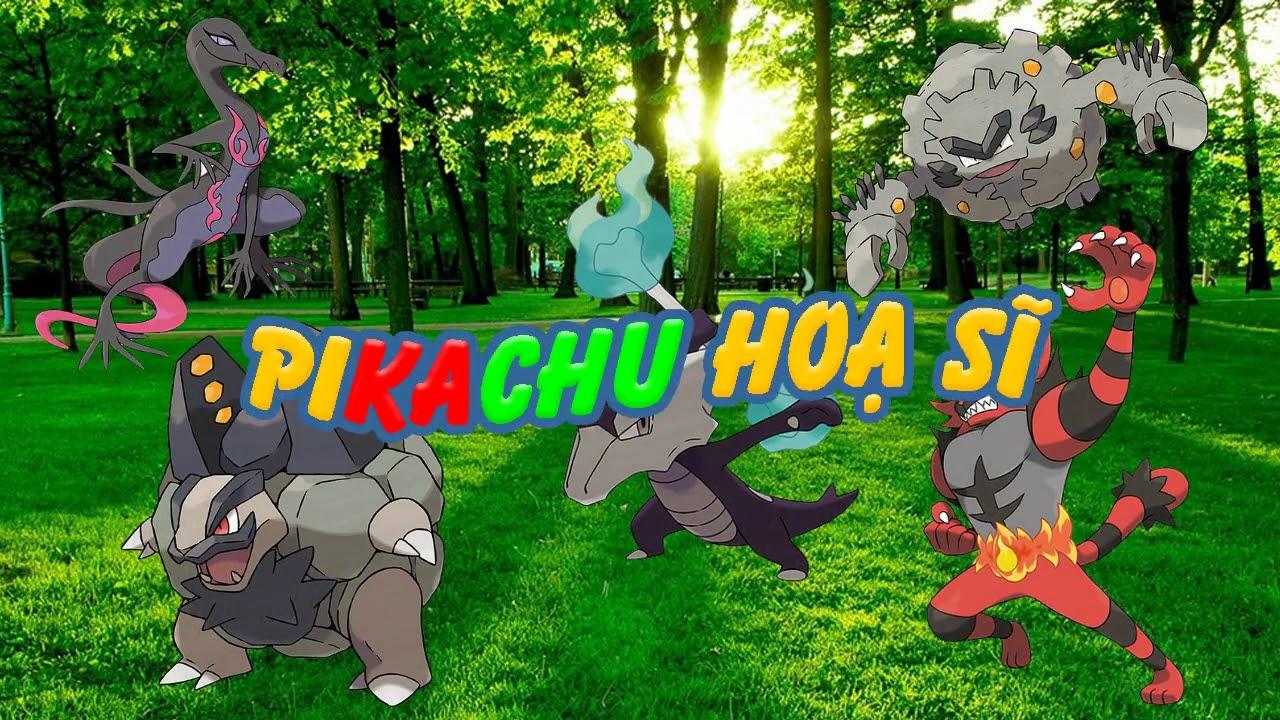 Phim hoạt hình Pikachu Hoạ sĩ Tập 1 Vẽ pokemon Ennyuto Gaogaen Garagara  Golone Golonya - YouTube