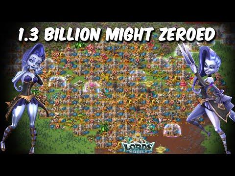 Trickster As Leader 1.3 Billion Might ZEROED & SKY ERJIU Rallying 1.7 Billion Might - Lords Mobile