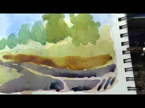 Sketchbook Demo – Watercolor Landscape