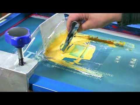 Serigrafia Video Sulla Tecnica Di Stampa