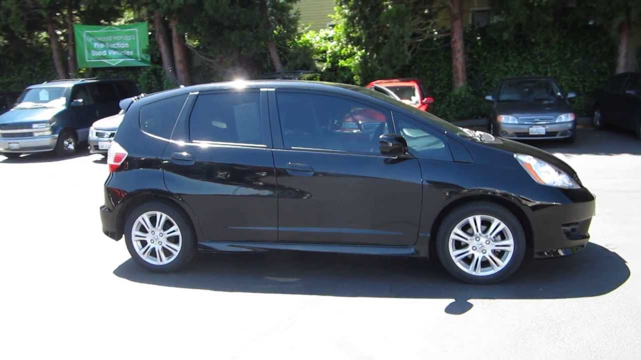 2010 honda fit crystal black pearl stock 130399a walk around