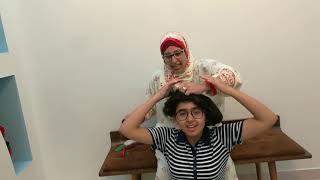 لما الام المصريه تعمل تسريحات العيد لبنتها😂بجد مسخره وصلو الفيديو ل 30000لايك