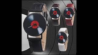 Модные женские часы Aliexpress в стиле ретро виниловые дизайнерские часы с кожаным ремешком