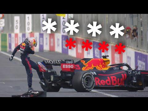 MAX VERSTAPPEN FULL TEAM RADIO AFTER HIS PUNCTURE CRASH!   HEARTBREAKING!   2021 Azerbaijan GP