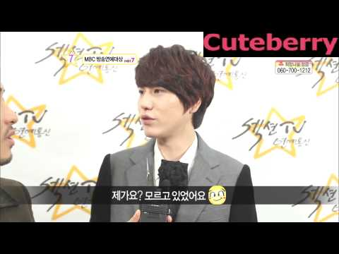 121230 KYUHYUN - Section TV Rookie of the Year award Interview