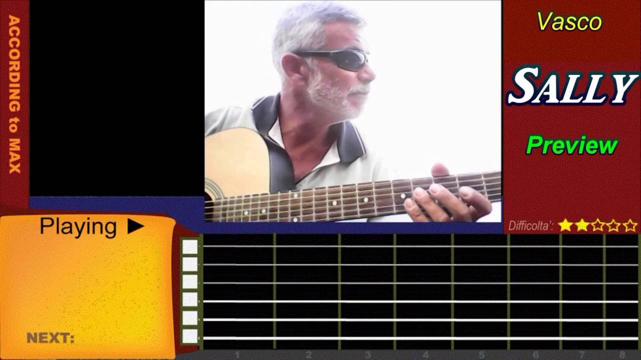 Accordi E Vasco Rossi Sally Vasco Rossi Accordi Chitarra Tutorial With Tabs How To Play Sally On Guitar