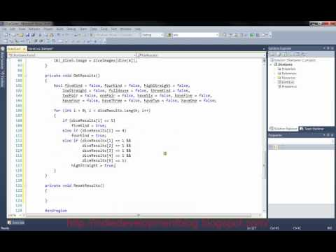 C# Dice Game Tutorial Part 2
