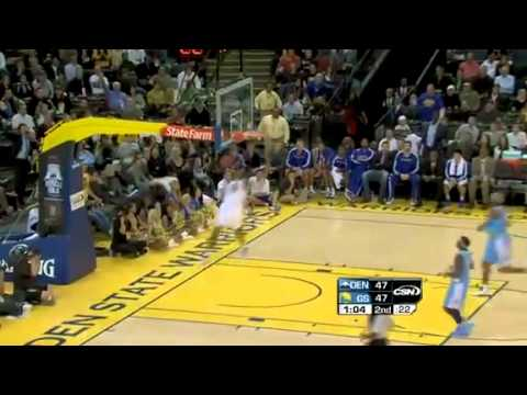 Rodney Carney Double-Pump Dunk Against the Nuggets (November 22, 2010)