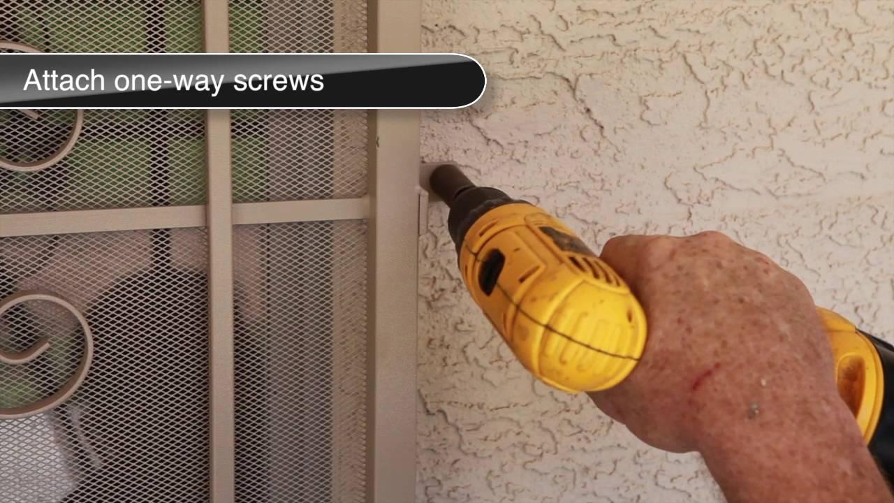How To Install A Steel Patio Security Screen Door Youtube