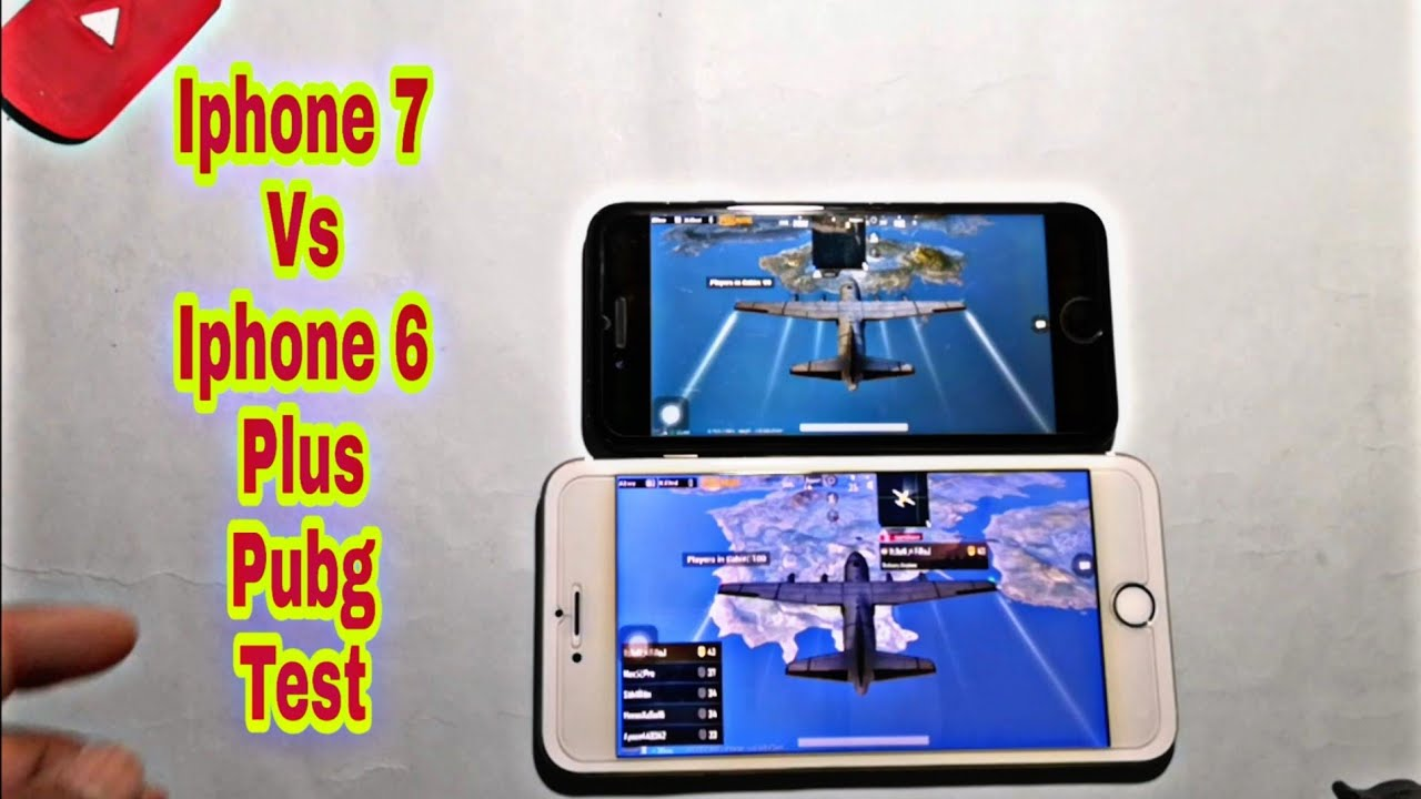 IPHONE 7 Vs IPHONE 6 PLUS PUBG Test High Graphics settings 2020