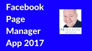 How to use Facebook pages manager 2017