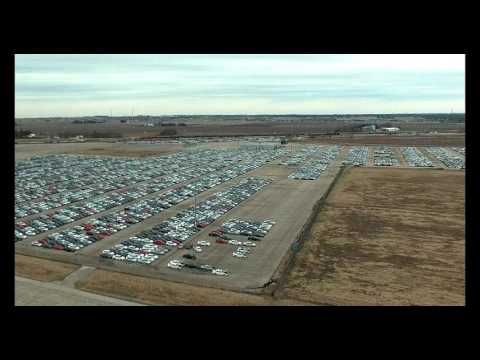 "Drone spy shot showing secret lot where VW ""Dieselgate"" cars are being stored"