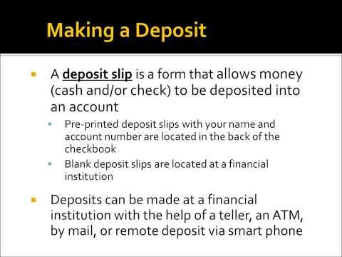 Banking Pt 5: Bank Statements & Deposit Slips