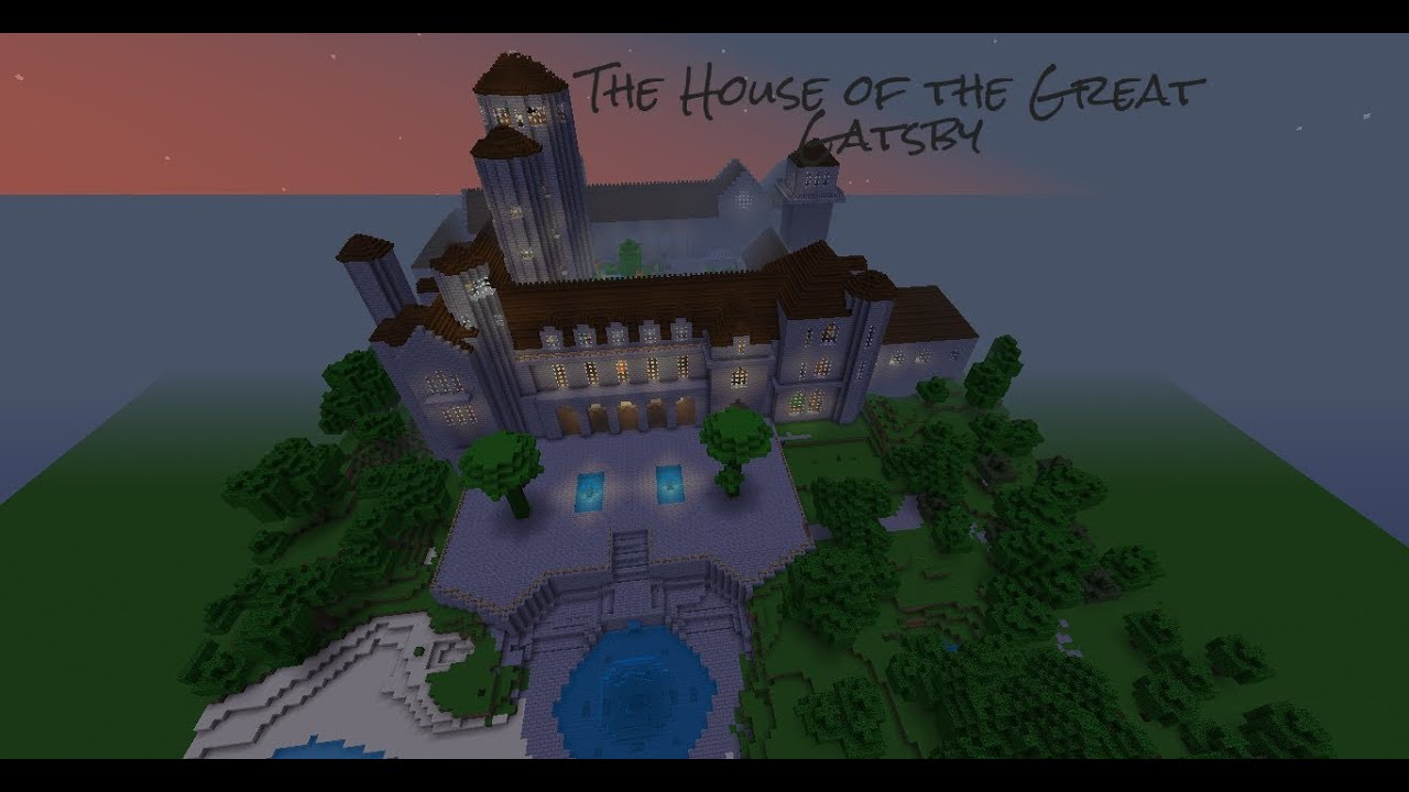 the house of the great gatsby minecraft - House From The Great Gatsby