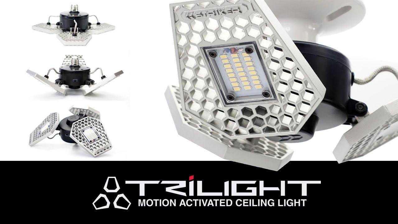 Striker Trilight Motion Activated Ceiling Led Light For
