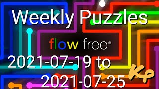 Flow Free - Weekly Puzzles - Scanline Challenge - 2021-07-19 to 25 - July 19th to 25th 2021 screenshot 5