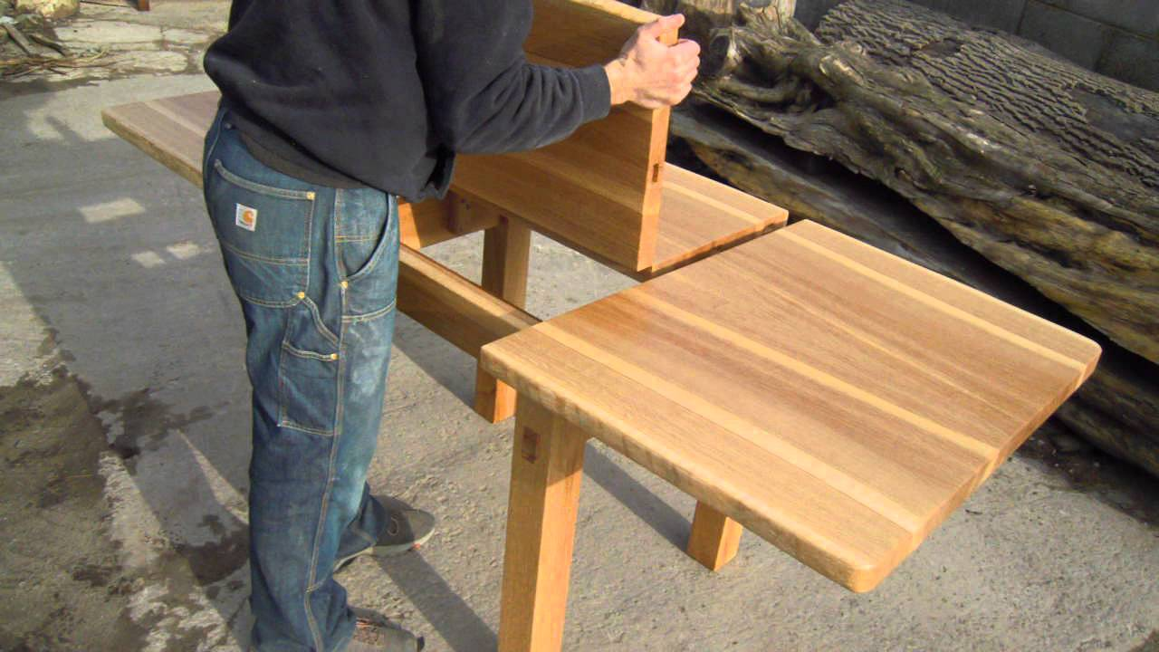 Butterfly Leaf Extending Oak Dining Table   YouTube