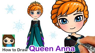 How to Draw Queen Anna | Disney Frozen 2