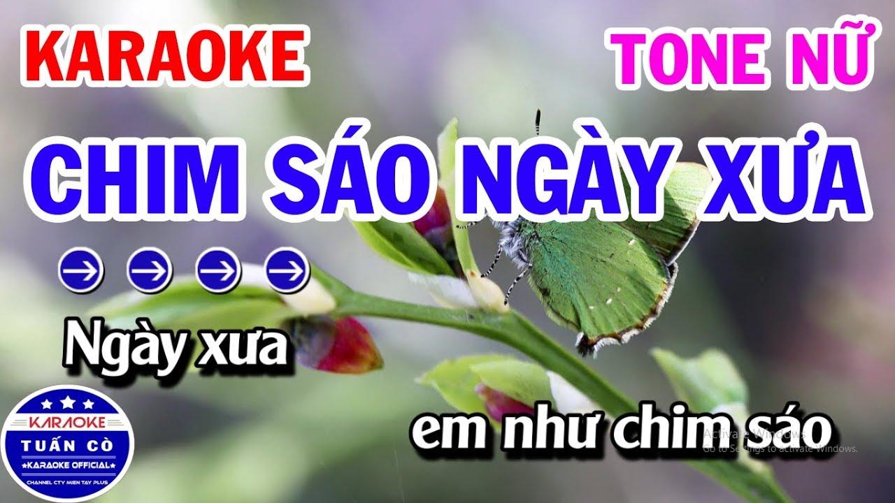 Karaoke Chim Sáo Ngày Xưa Tone Nữ G   Nhạc Sống Cha Cha Cha
