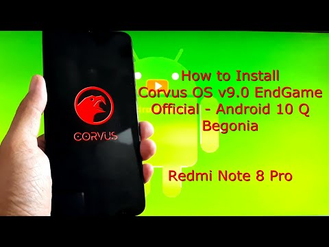 Redmi Note 8 Pro: Corvus OS v9.0 EndGame Official Begonia Android 10 Q