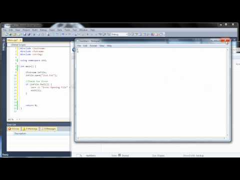 C++ Tutorial 29 - Reading and Writing to Files - fstream