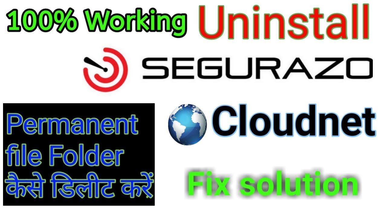 How to uninstall Segurazo Antivirus from Windows, Segurazo