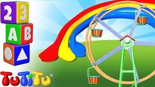 TuTiTu Pré-escolar | Aprender de cores em Inglês para Crianças | Roda-gigante