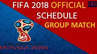 FIFA World Cup 2018 All Matches Schedule    Time Table    Date wise   