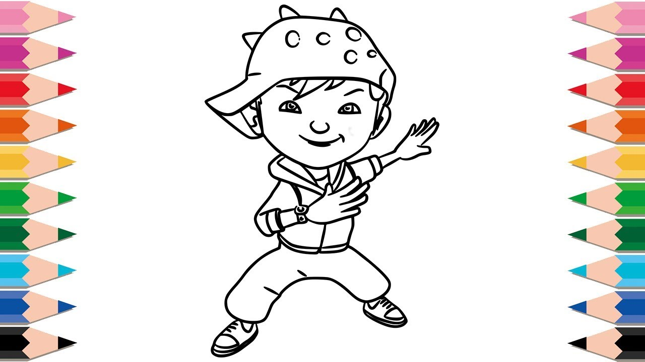 How to Draw BoBoiBoy for Kids Learning Colors Drawing